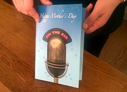 Audio on demand greeting card