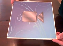 "Square soft back Brochure with 7"" screen"